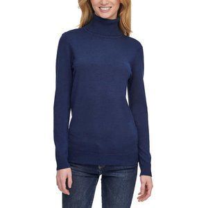 Andrew Marc Women's light bleu Turtleneck Sweater